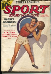 Sport Story #2 2/1937-basketball cover-Harry Greb, boxer-VG-