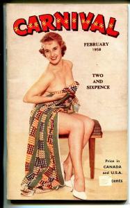 Carnival 2/1958-UK published-Cheesecake pix-VG