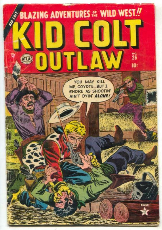 Kid Colt Outlaw #26 1953- Atlas Western comic VG