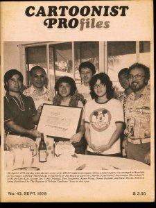 CARTOONIST PROFILES #43-1979-MILTON CANIFF-JOHN SEVERIN VG/FN