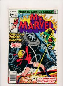 Marvel Comics Ms. Marvel  #5 Day of the Doom Wagon 1977 VERY FINE (HX788)
