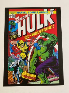 Incredible Hulk #181 1st app Wolverine Marvel Comics Poster by Herb Trimpe