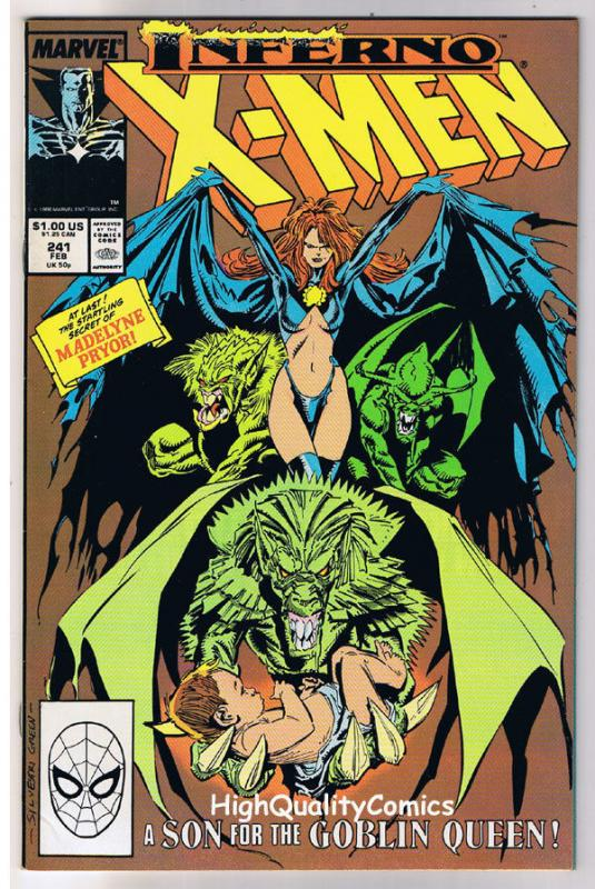 X-MEN #241, VF, Wolverine, Chris Claremont, Uncanny, more in store