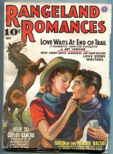 Rangeland Romances Pulp September 1941- Art Lawson- Eric Thane F/VF