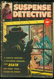 SUSPENSE DETECTIVE #3 1952 FAWCETT SEKOWSK Y BAILEY ART G-