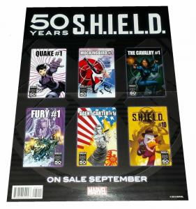 SHIELD 50th Anniversary / Miracleman #1 Folded Promo Poster (10 x 13) - New!
