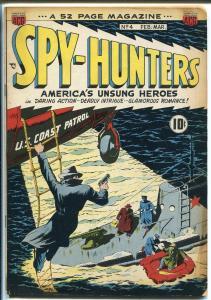 Spy-Hunters #4 1950-ACG-Nazi-sci-fi-submarine cover-VG+