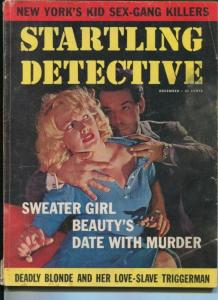 STARTLING  DETECTIVE-12/1959-NEW YORK'S KID SEX-GANG KILLERS-DEADLY BLOND- VG