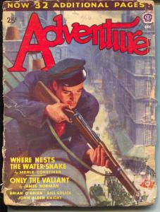 Adventure 12/1943-Nazi flag-sniper-action stories-Maurice Bower-G