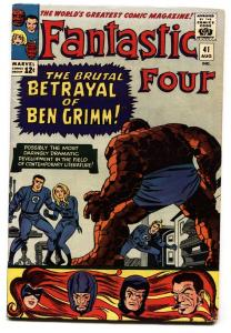 FANTASTIC FOUR #41 comic book 1965-VINCE COLLETTA-JACK KIRBY ART\
