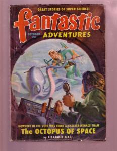 FANTASTIC ADVENTURES-OCT 1949-FANTASY MENACE PULP THRIL VG