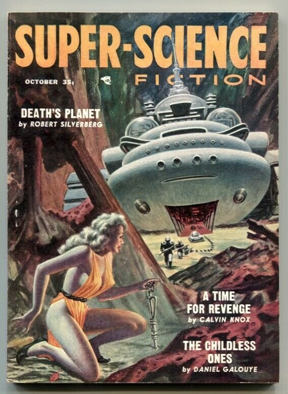 Super-Science Fiction October 1957- Death's Planet VF-