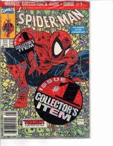 Marvel Comics Spider-Man #1 Todd McFarlane Story & Art Green Cover Bagged