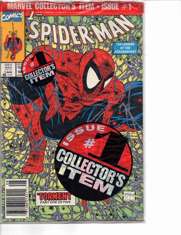 Marvel Comics Spider-Man #1 Todd McFarlane Story & Art Green Cover Bagged