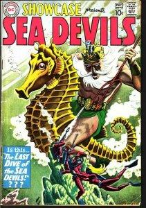 SHOWCASE COMICS #29 SEA DEVILS-RUSS HEATH ART-1960-D.C. FN