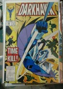 darkhawk # 28 1993 marvel chris powell  time to kill speedball nova kang