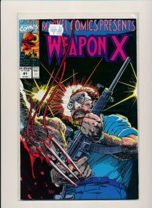 Marvel Comics WEAPON X #81 1991 FINE/VERY FINE (PF599)