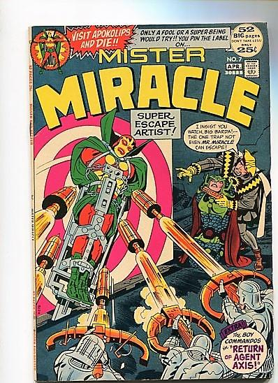 MISTER MIRACLE  #7  9.2  WHITE PAGES  (1972)  HIGH GRADE BEAUTY WOW!