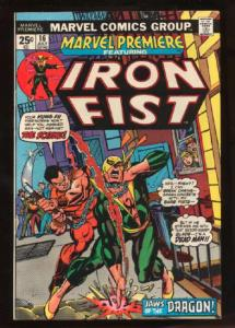 Marvel Premiere #16, VF+ (Actual scan)