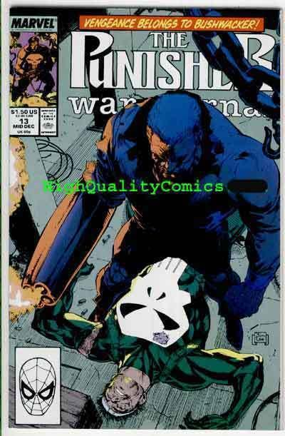 PUNISHER WAR JOURNAL #13, NM+, Jim Lee, Bushwacker, more PWJ in store