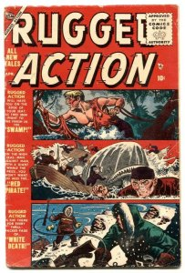 Rugged Action #3 1955- Atlas comic- Red Pirate G/VG