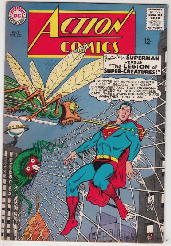 Action Comics #326 (Jul-65) VF High-Grade Superman, Supergirl