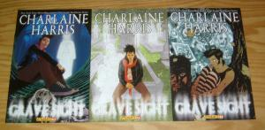 Charlaine Harris' Grave Sight #1-3 VF/NM complete series - by true blood creator