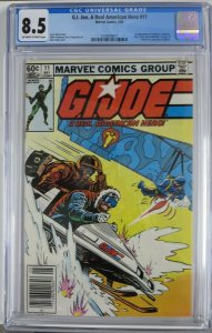 G.I. JOE  #11 (Marvel,5/83) CGC 8.5 First Gung-ho, Doc, Destro in cameo