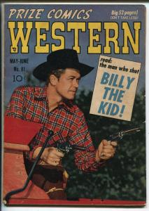 Prize Comics Western #81-1950-B-Western cover-Will Elder-Severin-VG