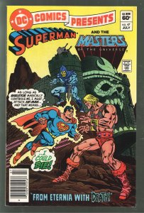 DC COMICS PRESENTS 47;VF- 7.5 1st APPEARANCE MASTERS OF THE UNIVERSE.