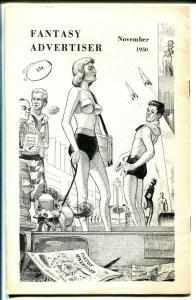 Fantasy Advertiser 11/1950-pulps for sale fanzine-auction-FN