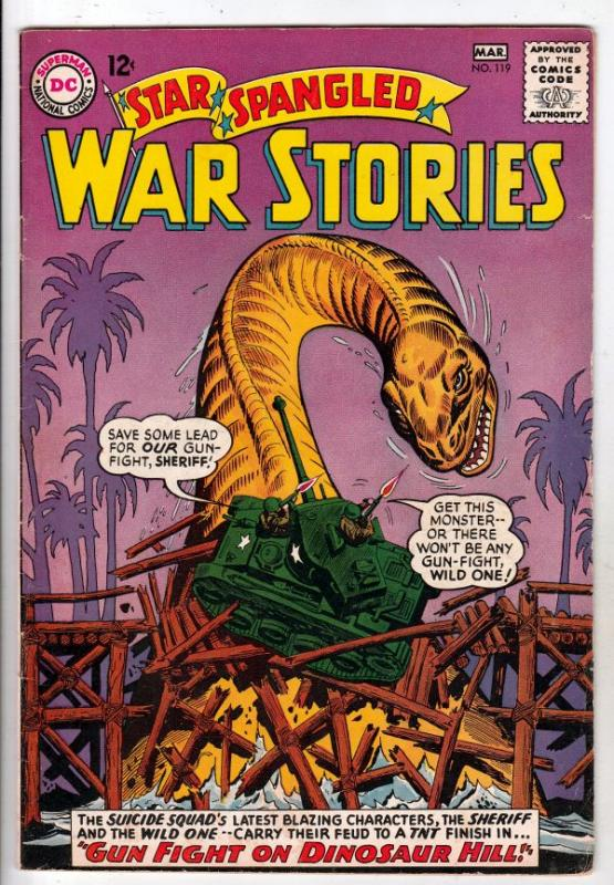 Star Spangled War Stories #119 (Mar-65) VF High-Grade Dinosaur, the Suicide S...