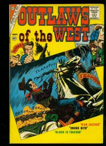 Outlaws of the West #30 1961- Charlton Western- Kit Carson Text- FN+