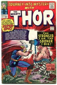JOURNEY INTO MYSTERY #114 comic book 1965-THOR-1st ABSORBING MAN KIRBY VG/F