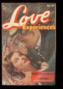 LOVE EXPERIENCES #21 1953-PHOTO COVER-I RAN WILD-RARE VG