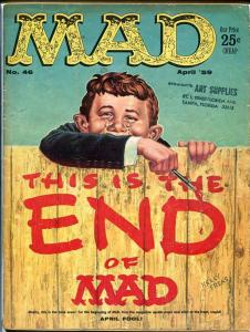 MAD MAGAZINE #46-GREAT COVER-ALFRED E. NEUMAN-1959 VG