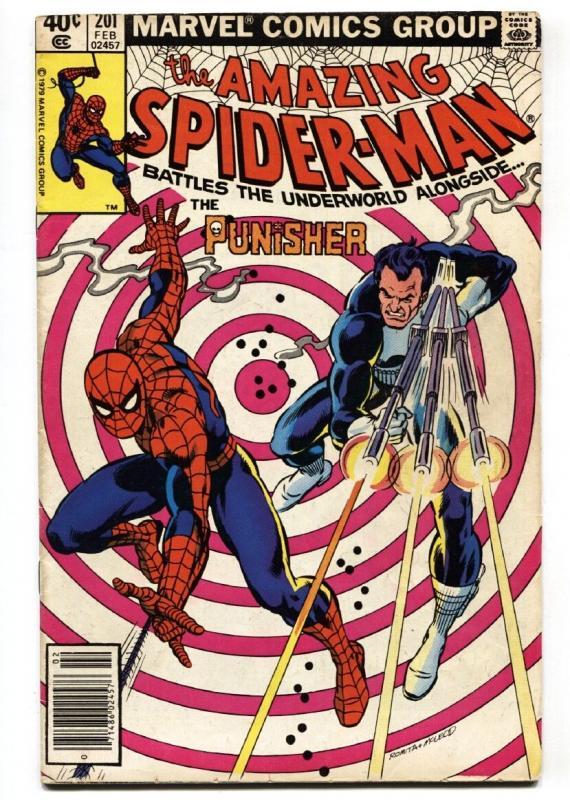 AMAZING SPIDER-MAN #201  PUNISHER issue comic book 1980 MARVEL