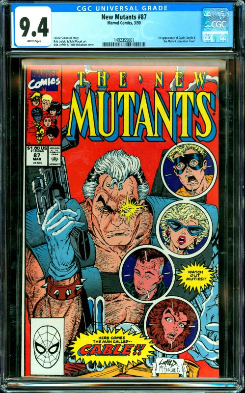 New Mutants #87 CGC Graded 9.4 1st Appearance of Cable, Stryfe...