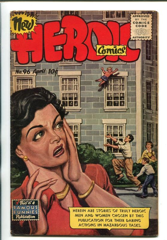 HEROIC #96 1955-FAMOUS FUNNIES-BABY RESCUE COVER-1ST COMICS CODE ISSUE-RARE-fn