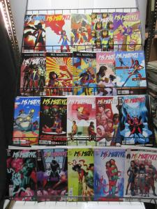 Ms. Marvel Lot of 28Diff Instant Library of Kamala Khan's Adventures GW Wilson