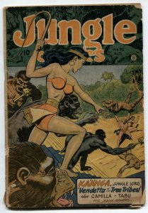 Jungle Comics #92 1947-Kaanga- whip cover G