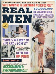 Real Men Magazine January 1966-WHIPPING-CHEESECAKE-PULP VG