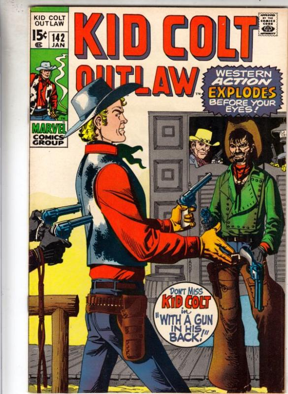 Kid Colt Outlaw #142 (Jan-70) NM/NM- High-Grade Kid Colt