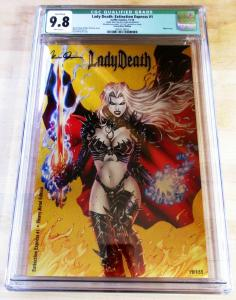 Lady Death Extinction Express #1 Metal Edition #12/133 Signed COA CGC 9.8 NM/MT