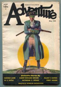 Adventure Pulp May 15th 1933- Harold Lamb VG