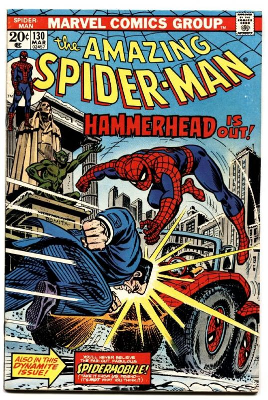AMAZING SPIDER-MAN #130 comic book-MARVEL COMICS-HAMMERHEAD