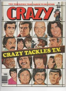 CRAZY #26 Magazine, VF+, Spock, Fonz, Sitcoms, 1973 1977, more in store