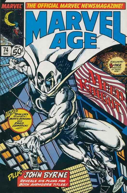 Marvel Age #74 VF/NM; Marvel | save on shipping - details inside