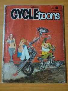 Petersen's Cycletoons Cycle Toons Car Magazine February 1970 ~ VERY GOOD VG ~