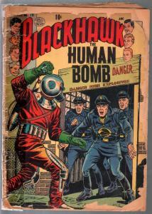 Blackhawk #79 1954-Quality-Human Bomb-lower grade-P